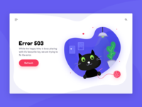 Cat Illustration | Error 503 Page