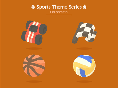 OnionMath topic icons - Sports theme series ui symbol product illustration icon flat electric design app 2d