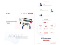 Landing page for brief services