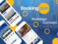 Bookingdotcom iOS App Redesign-Concept