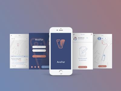 AVATAR APP photoshop mobile illustrator illustration graphic design color art application appdesign app adobe