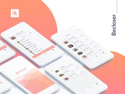 BeCloser art designer application mobile design app appdesign sketch ui photoshop graphic design design