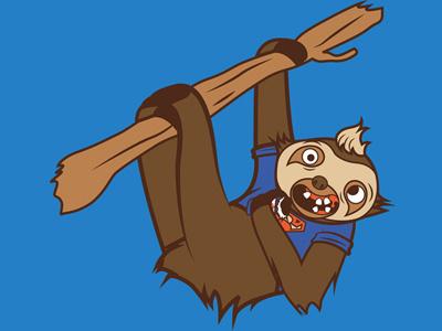 Sloth sloth goonies hoborobo movie animal cartoon character design illustration illustrator