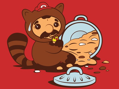 The Tanooki Truth mario tanooki hoborobo raccoon videogame cartoon character design animal game illustration illustrator