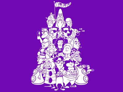 Day at the Mansion day mansion tentacle hoborobo video game point and click adventure character design game illustration illustrator cartoon