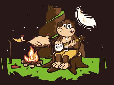 Roast Kazooie banjo kazooie bear bird hoborobo video game cartoon character design animal game illustration illustrator