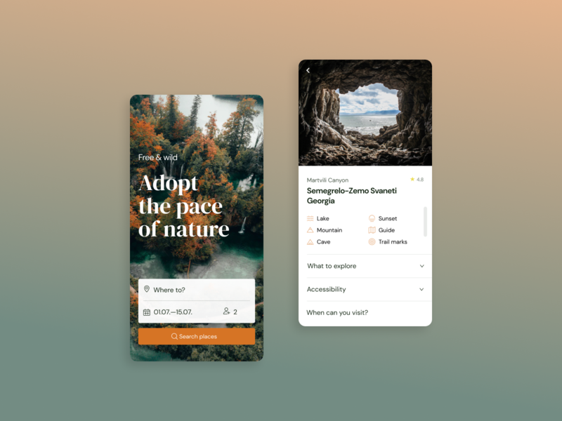 Free & wild web app ux ui minimal design clean