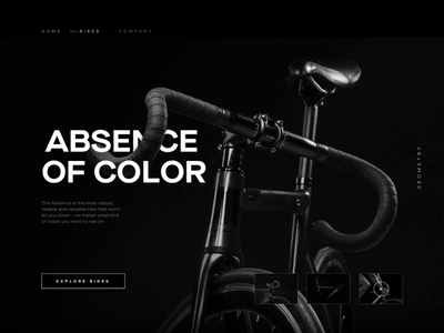 Absence Of Color clean type minimal website animation web ux typography vector ui design illustration