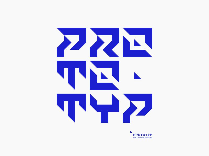 PROTOTYP — lettering icon vector typography type minimal design clean