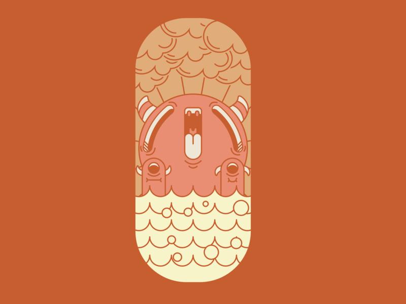 Monster Island monster smile illustration cartoon cute