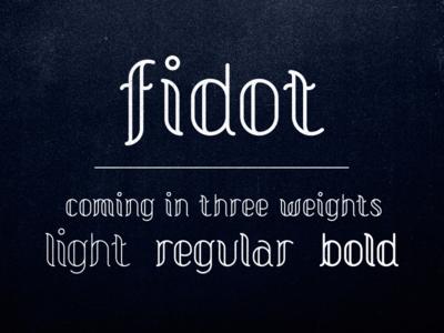 Fidot Typeface