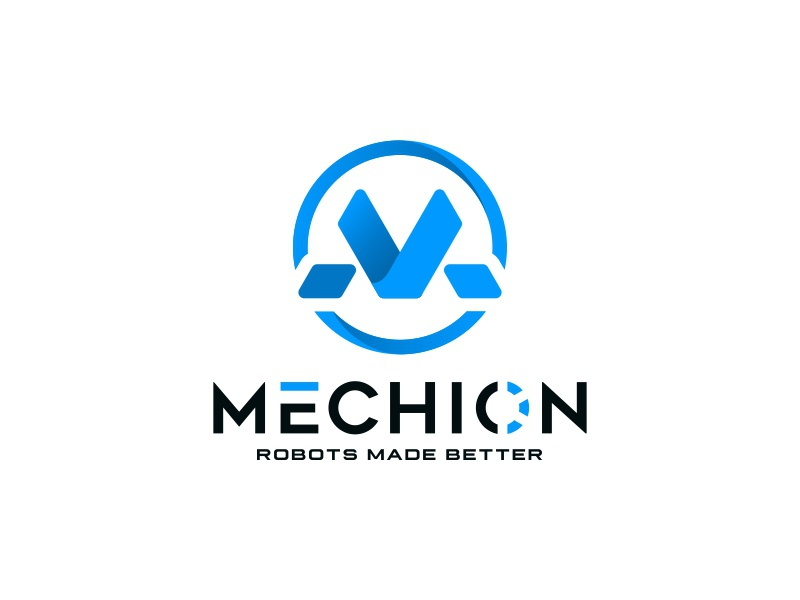 Mechion Logo letterm powerful robotic art design logo technology