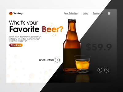 Beer Landing Page Illustration