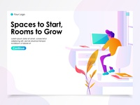 Work Space Landing Page Illustration