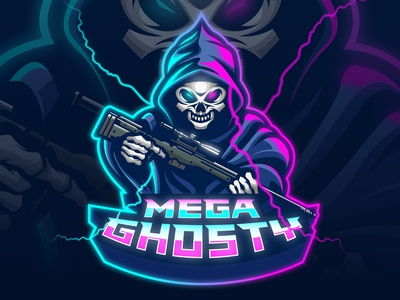 Mega Ghosty E-Sport Logo