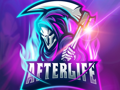 Afterlife Mascot Logo