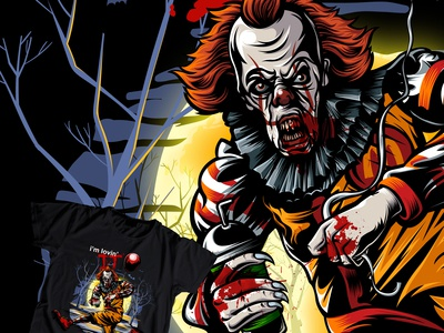 Pennywise T-Shirt Illustration