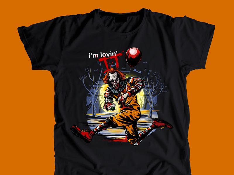 Pennywise T-Shirt Illustration tees apparel tshirt character branding vector illustration design art