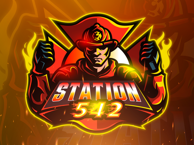 STATION 542 Mascot Logo