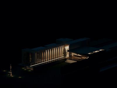 2,5 years since last publication on Behance render flatdesign flat building architecture photoshop adobe photoshop 3d archviz architectural visualization