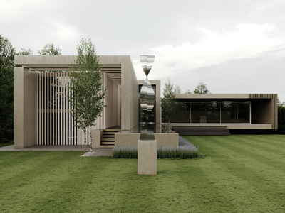 Backyard of Bran's Lane architectural visualization archviz 3d adobe photoshop photoshop architecture building render