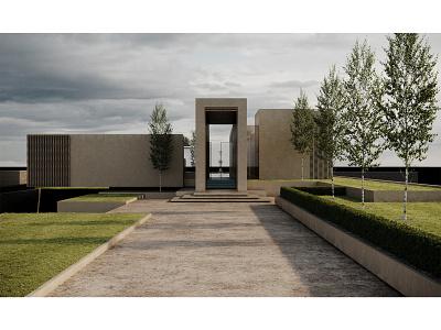 Frontyard WIP render render flat design flat building architecture photoshop adobe photoshop 3d archviz architectural visualization