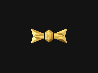 Gold Bow Tie Logo golden gold corporate branding black corporate design corporate identity corporate branding design brand identity brand design geometric catering wedding diamond branding logo tie bow bowtie
