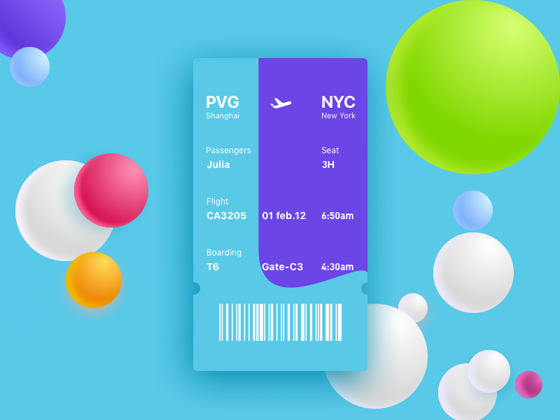 Boarding pass try a