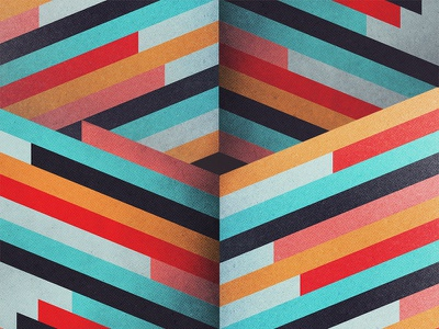 Geometric Sheared Texturized Lines colorful lines sheared geometric grain grit texture illustrator photoshop