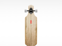 Skate longboard dribble large
