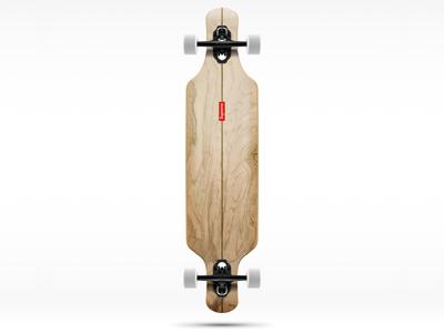Longboard longboard skate mockup