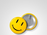Smiley pin watchmen full view