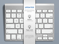 Apple Keyboard, Free .PSD - UPDATE 2!