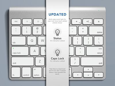 Apple Keyboard, Free .PSD - UPDATE 2! apple keyboard free psd mockup lights