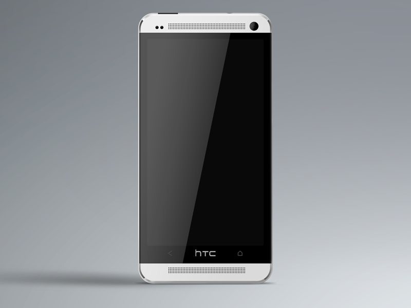 HTC One Preview phone htc htc one mockup