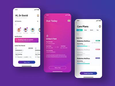 One milo plans medical medicine card app ui ux  ui care tracking health