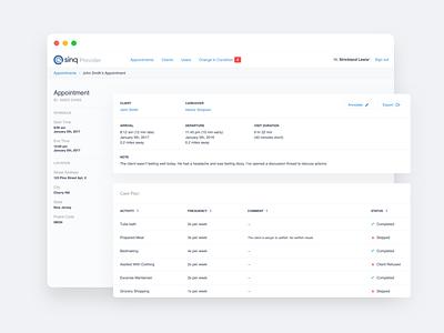Sinq health dashboard portfolio typography development ux  ui work ui design