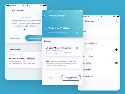 Celbrea health card ux portfolio typography development ux  ui app work ui design