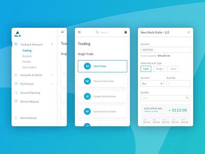 Trade PMR branding portfolio development app ui ux  ui design