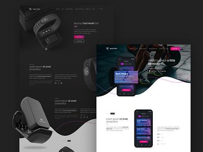 Biostrap sports fitness health wearable tech wearables typography app development ux  ui work design