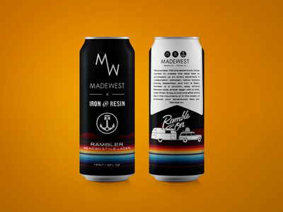 Iron & Resin  x  MADEWEST illustration beer craft packaging