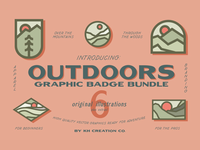 KH Outdoors Graphic Badge Bundle for Creative Market