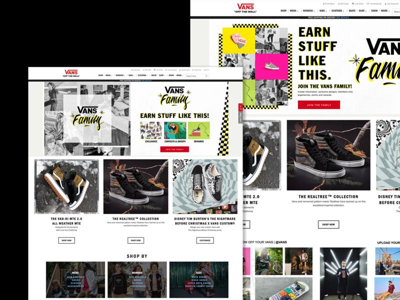 Vans Family Takeovers graphic design ui ux interactive web design