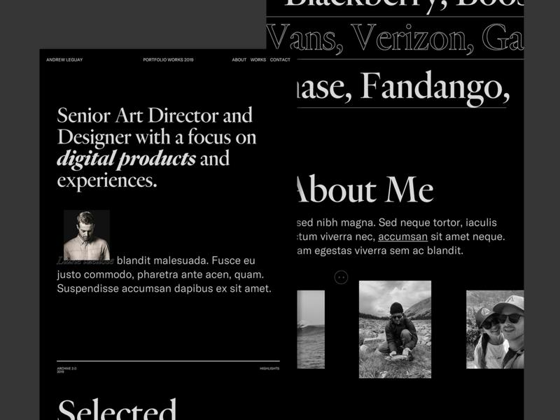 Folio — 19' v.02 graphic design interactive web design