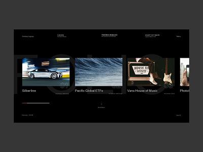 Folio Works art direction design ux web design typogaphy ui graphic design interactive