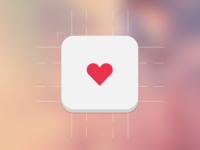 Heart Icon heart icon app icon simple simplicity ios ios7 flat flat design flat icon
