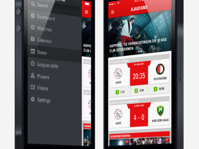 Football app - Dashboard