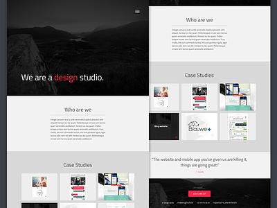 Design studio  website design ui ux work portfolio agency web design web