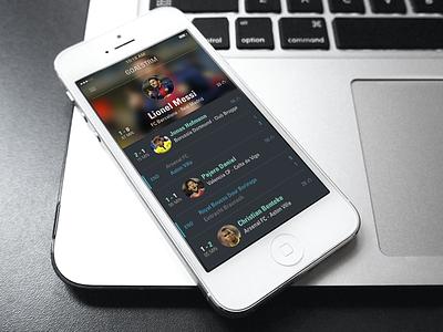 Goalstrm Live! goalstrm football app layout design clean flat freebie soccer fans