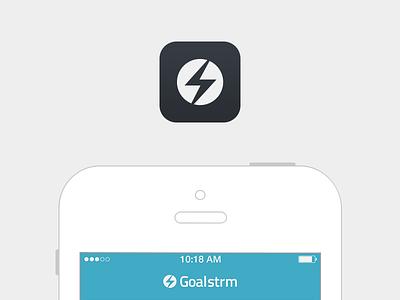 Goalstrm app icon flat clean design layout app freebie football fans goalstrm soccer app icon